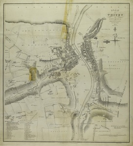 Historic map of Whitby 1828