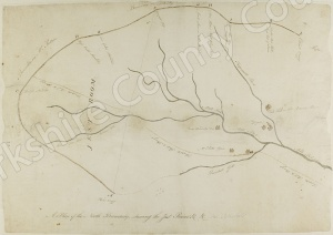 Historic map of land at Arkendale