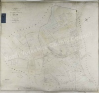 Historic map of Alne 1811