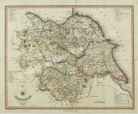 Historic map of Yorkshire 1822