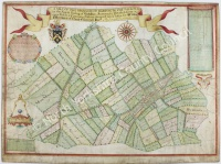 Historic map of Barton le Willows 1711