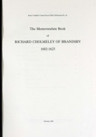 The Memorandum Book of Richard Cholmeley of Brandsby 1602-1623