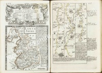 Historic Road Map from York to Lancaster 1731