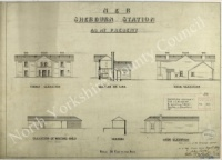 Sherburn-in-Elmet Railway Station Plan 1889