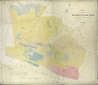 Historic tithe map of Middleton Tyas 1845