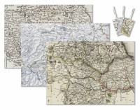 Historic map wrapping paper - Pack of 3 sheets