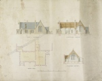 Historic plan of Buttercrambe School