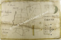 Historic plan of Mr Dowson's Farm, Bransdale 1813