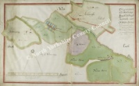 Historic map of Hutton Hang 1627