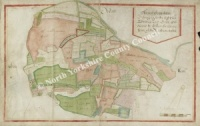 Historic Map of East Witton 1627