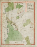 Historic map of Newton le Willows 1627