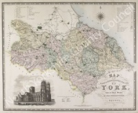 Historic map of the North Riding of Yorkshire 1817